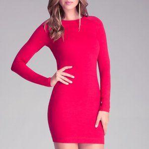 Bebe Mock Neck Body Con Dress